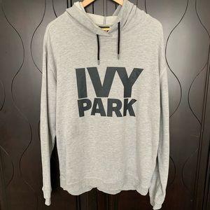 Ivy Park Logo Hoodie in Light Gray